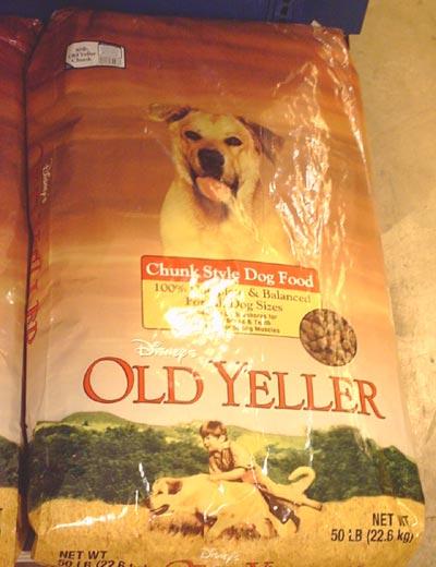 Oldyellerdogfood-bag