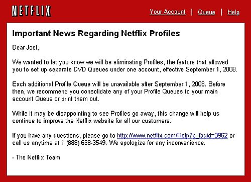 Netflix Email Notification
